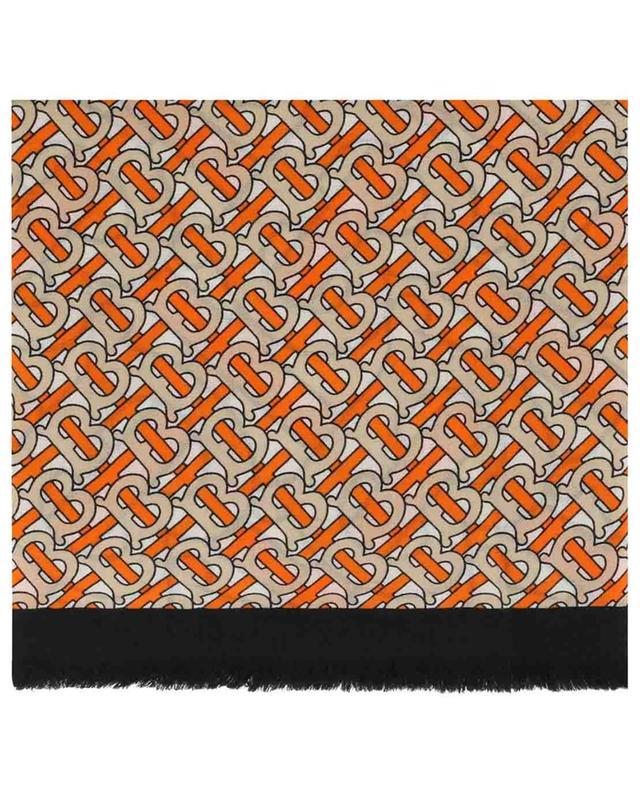 Monogram print cashmere scarf BURBERRY