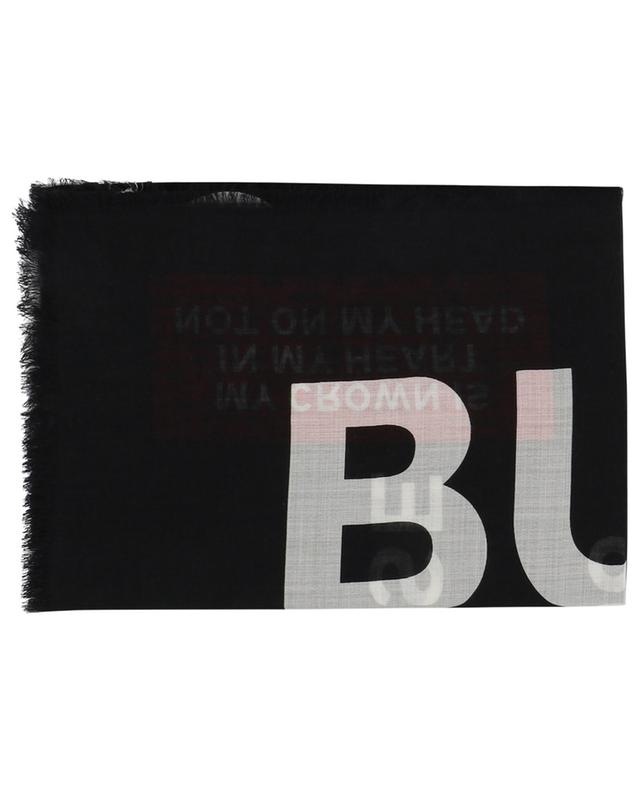 Text Gauze printed scarf BURBERRY
