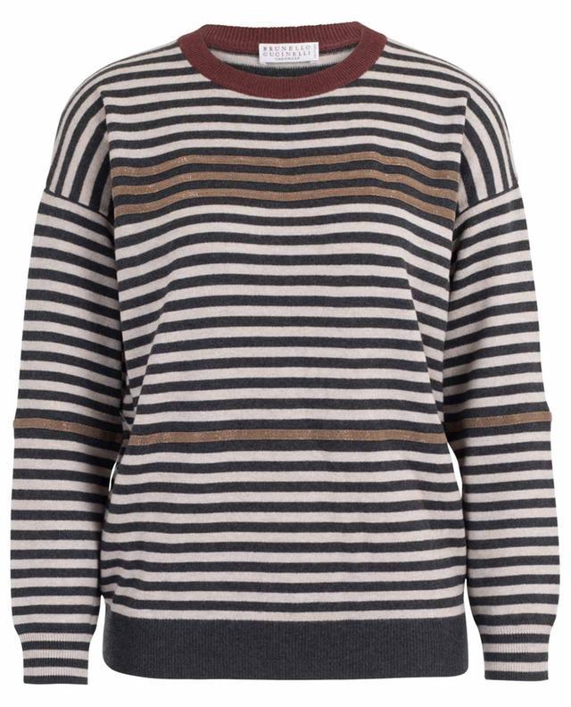 Striped wool and cashmere blend jumper BRUNELLO CUCINELLI