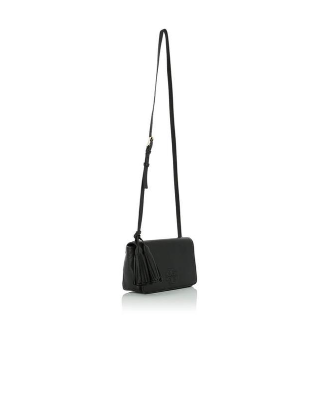 Mini-Umhängetasche aus genarbtem Leder Thea TORY BURCH