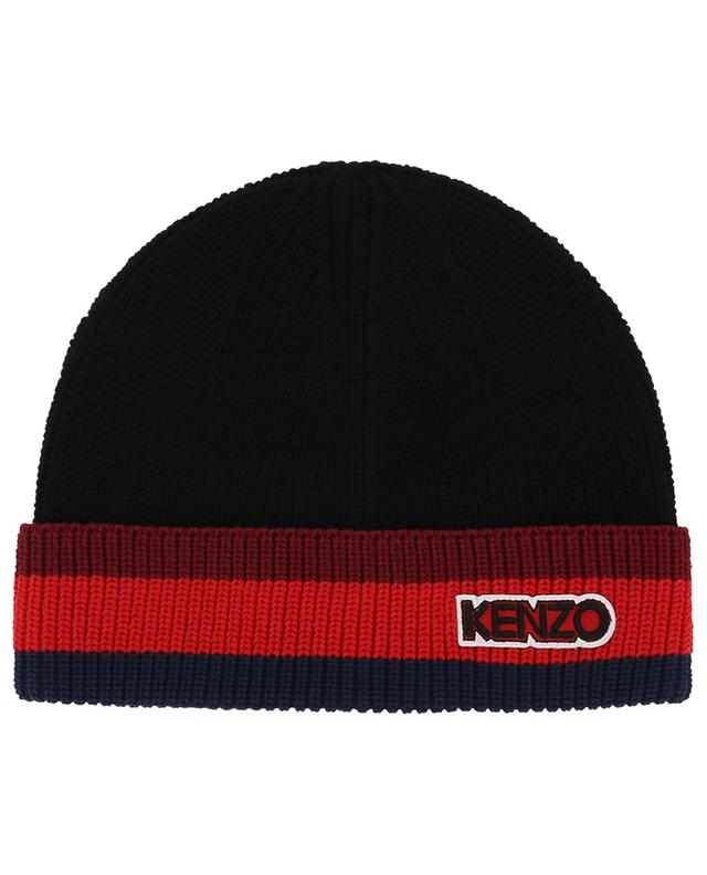 Dicke Mütze mit Streifendetail Kenzo Tag KENZO