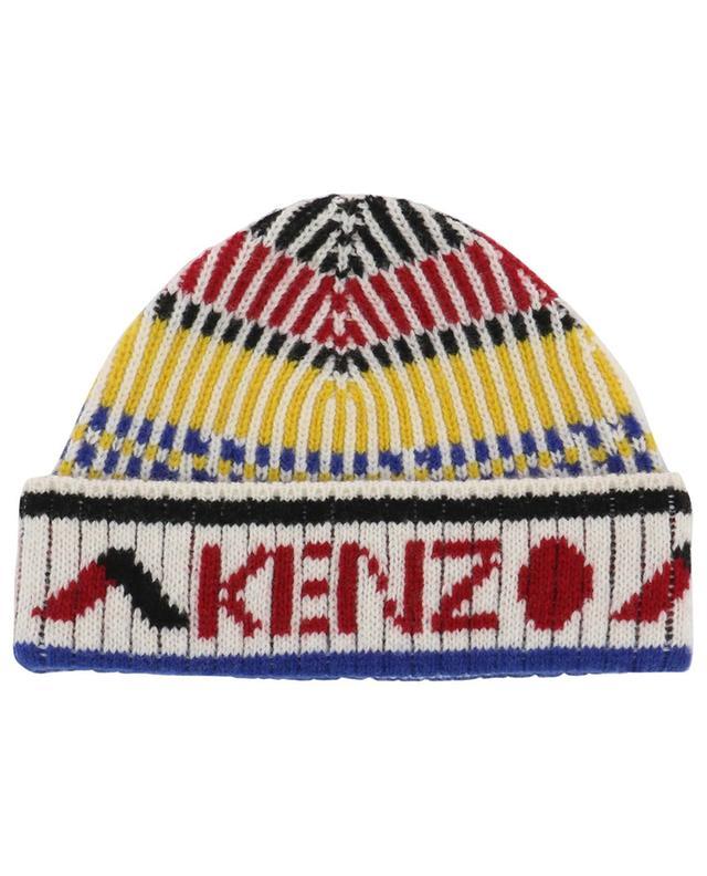 Bunte Rippstrickmütze Peruvian Story KENZO