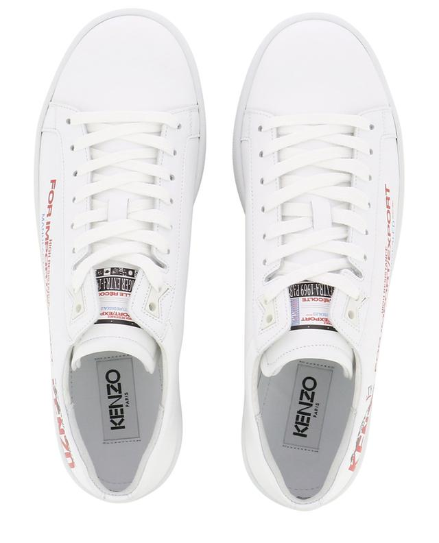Tennix slogan printed leather sneakers KENZO