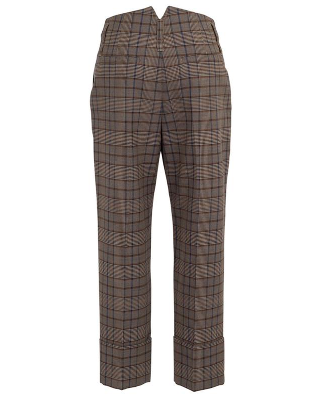 Straight fit checked trousers BRUNELLO CUCINELLI