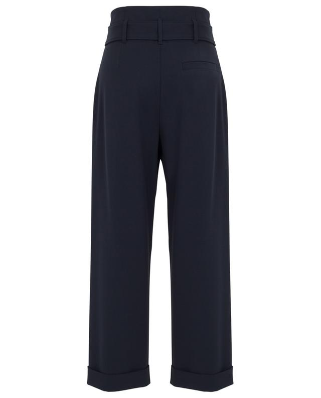 Wide-leg paperbag trousers with embroidered belt BRUNELLO CUCINELLI