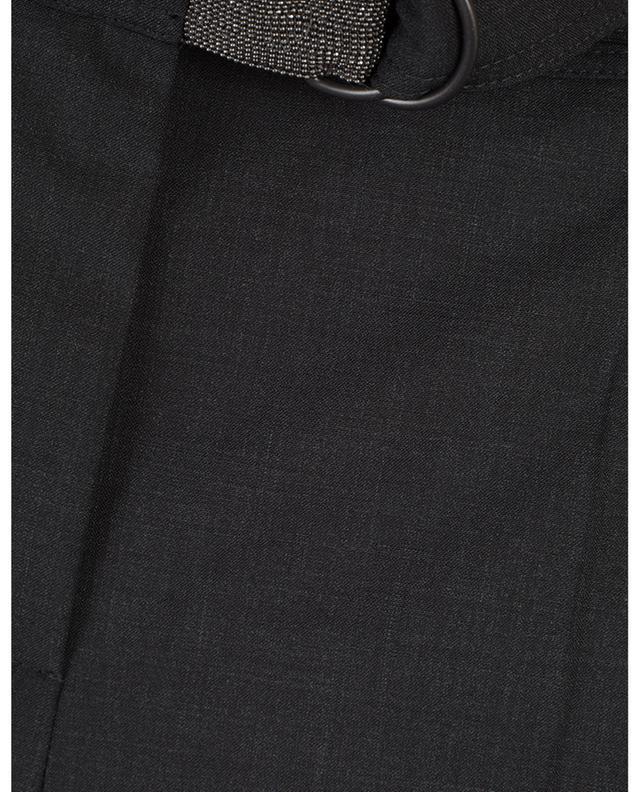 Pantalon raccourci fluide en laine détail Monile BRUNELLO CUCINELLI