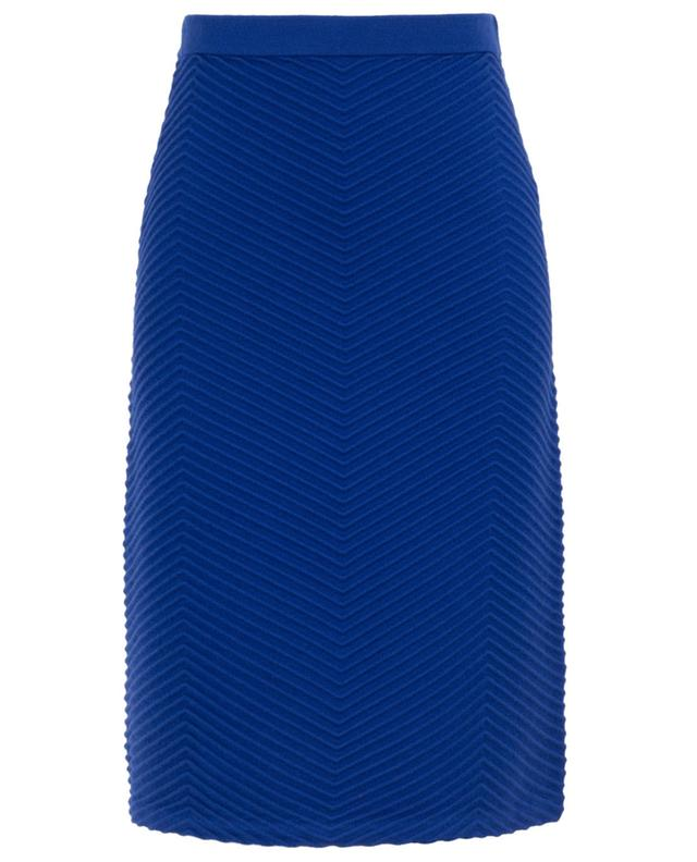 Chevron pattern wool midi skirt VICTORIA BY VICTORIA BECKHAM