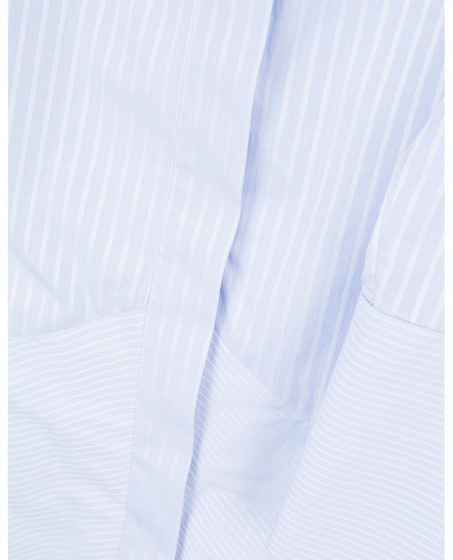 A-förmiges gestreiftes Hemdkleid mit Schoss VICTORIA BY VICTORIA BECKHAM
