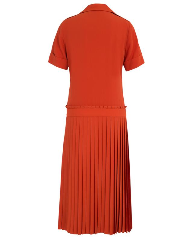 Drop waist pleat dress with patch pockets VICTORIA BY VICTORIA BECKHAM