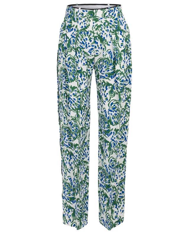 Weite geblümte Hose im Pyjama-Look VICTORIA BY VICTORIA BECKHAM