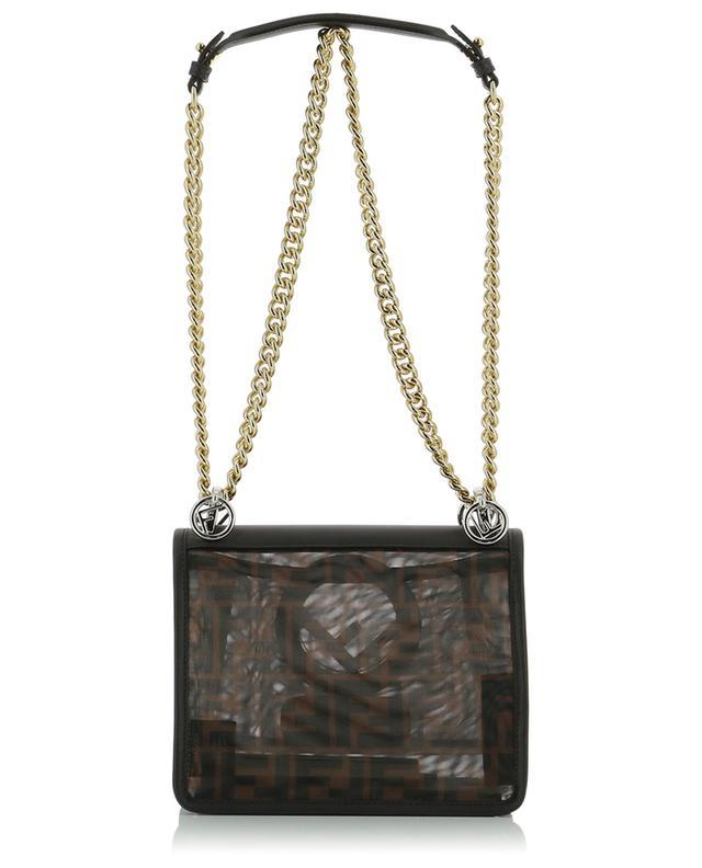 Kan I Small FF mesh and calfskin shoulder bag FENDI