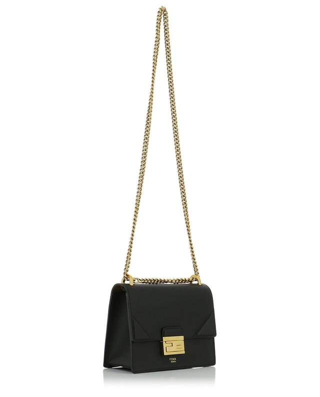 Kan U Small leather shoulder bag with FF closure FENDI