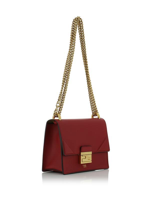 Kan U Small leather shoulder bag with FF closure FENDI