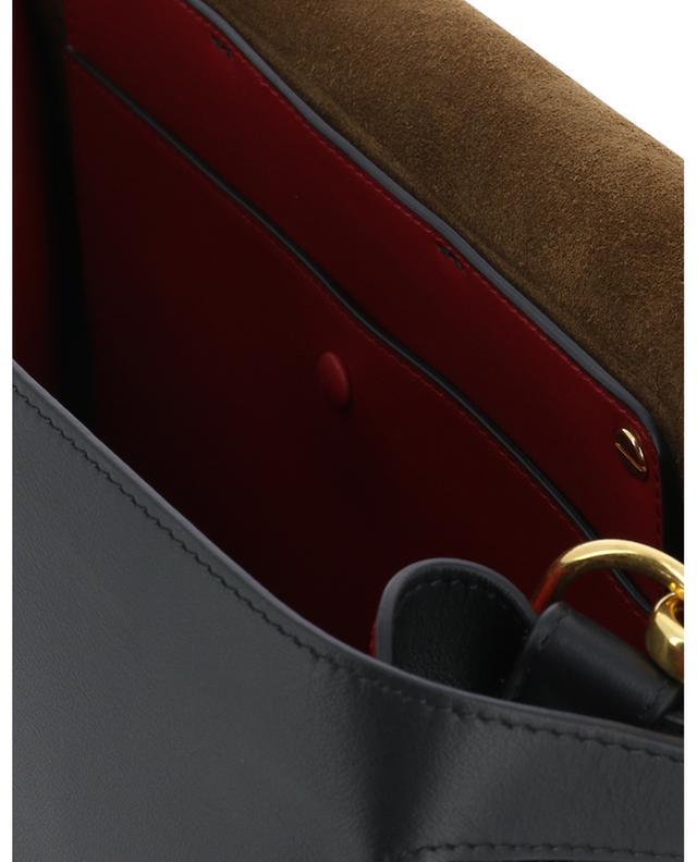 Schultertasche aus mattem Leder Kan U Large FENDI