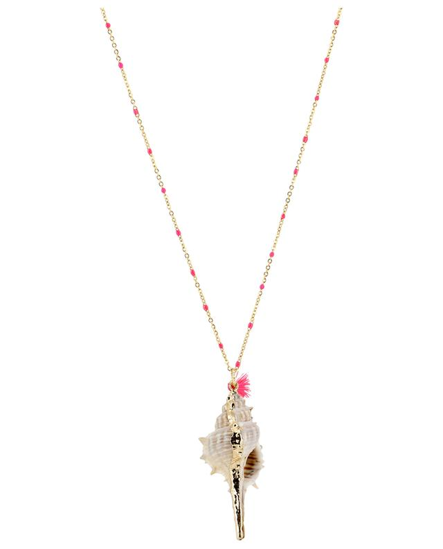Metal necklace with shell MOON C° PARIS
