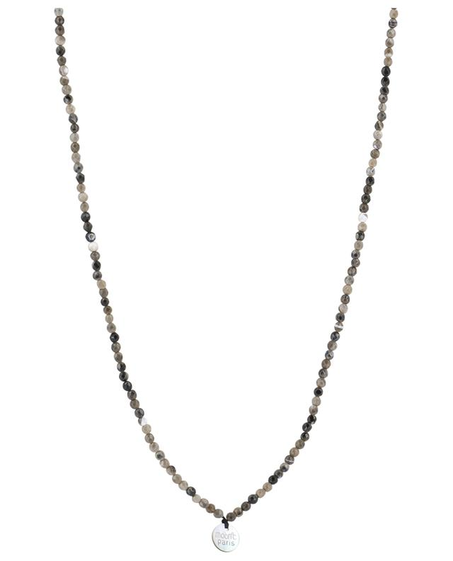 Stone necklace with pendant MOON C° PARIS