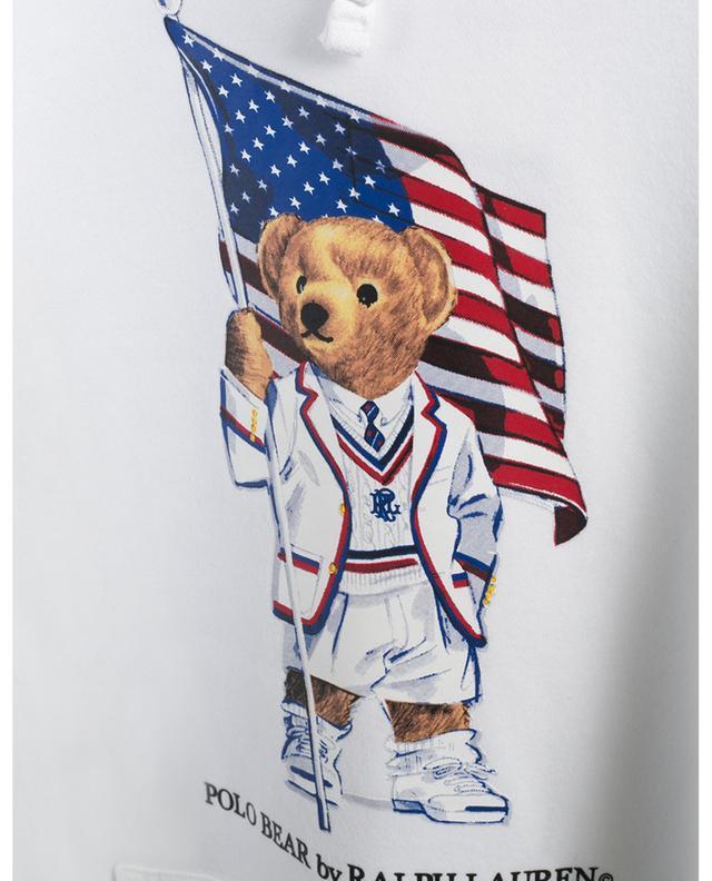 Sweat-shirt à capuche imprimé drapeau Polo Bear POLO RALPH LAUREN
