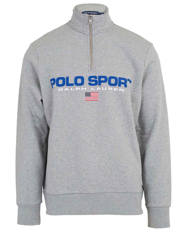 Cotton blend sweatshirt with stand-up collar POLO RALPH LAUREN