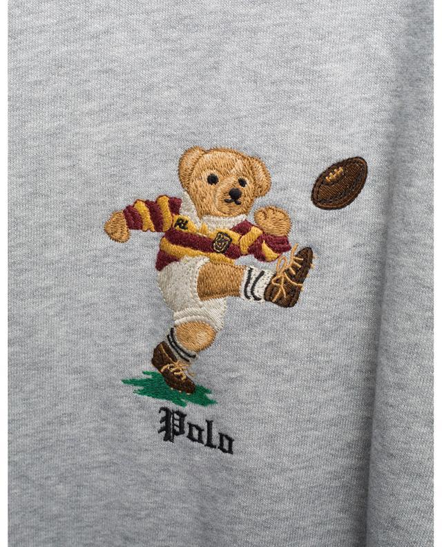 Sweat-shirt à capuche en coton broderie ours POLO RALPH LAUREN