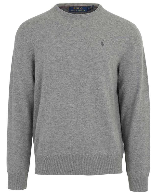 Logo adorned merino wool round neck jumper POLO RALPH LAUREN