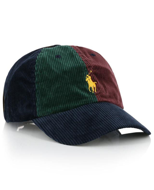 St Andrews multicolour corduroy and leather baseball cap POLO RALPH LAUREN
