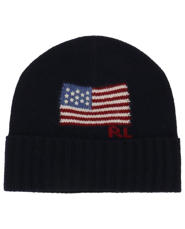 Bonnet jacquard motif drapeau américain Echo POLO RALPH LAUREN