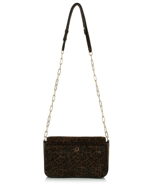 Petit sac porté épaule en daim imprimé léopard Moon VANESSA BRUNO