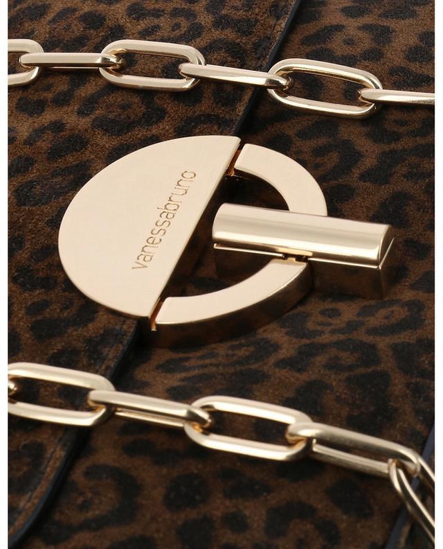 Moon small leopard print suede shoulder bag VANESSA BRUNO