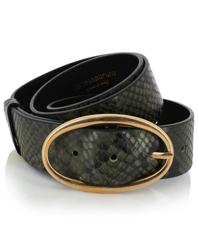 Python effect leather belt VANESSA BRUNO