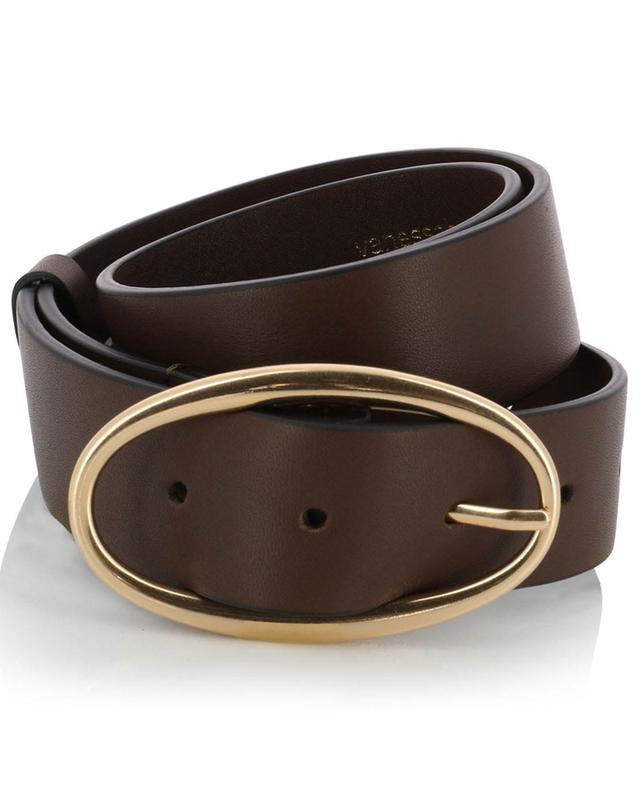 Leather belt with oval buckle VANESSA BRUNO