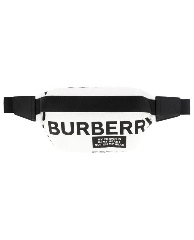 Sonny nylon belt bag with slogan print BURBERRY