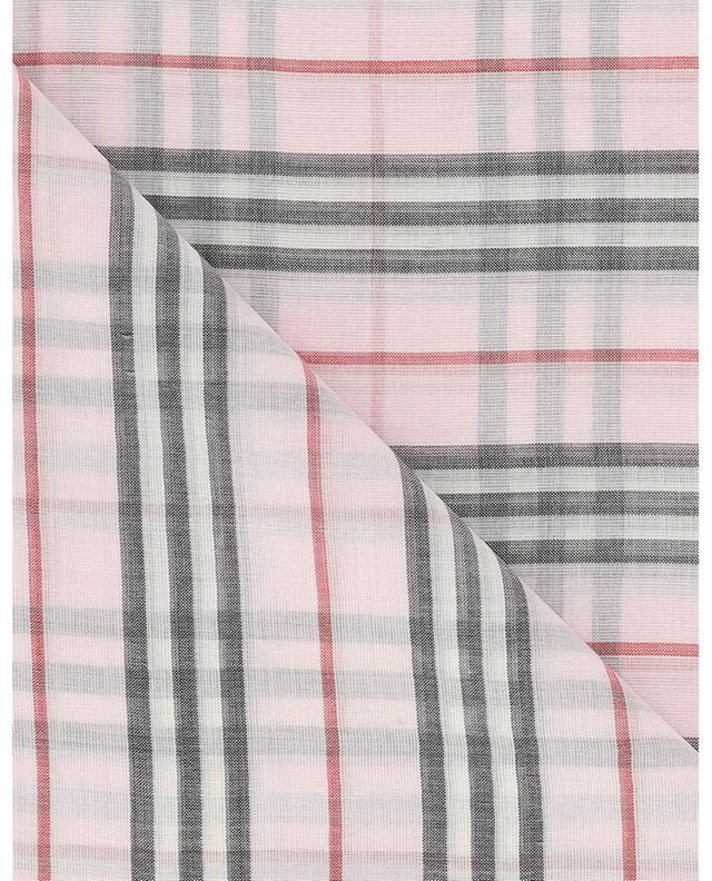 Check lightweight wool and silk shawl BURBERRY
