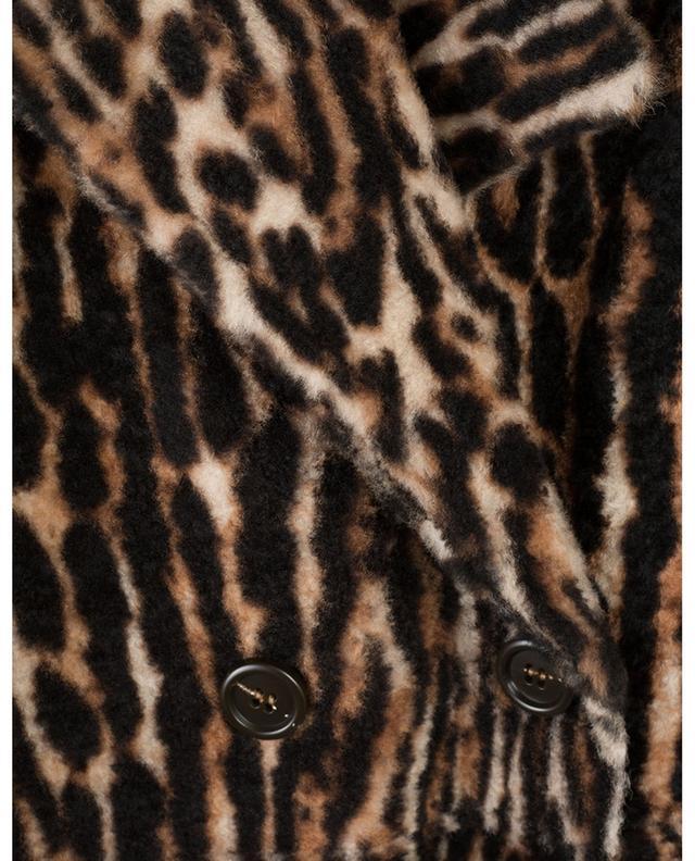 Manteau en peau lainée d'agneau Lacon imprimé Ocelot YVES SALOMON
