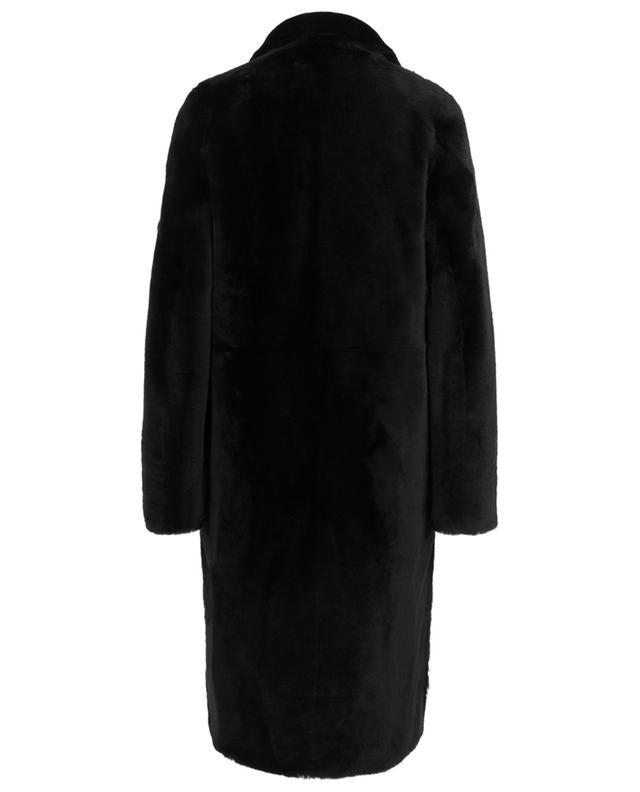 Manteau droit en peau lainée YVES SALOMON