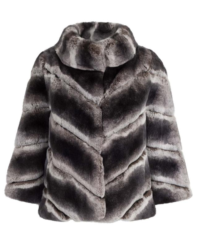 Real fur and leather jacket YVES SALOMON