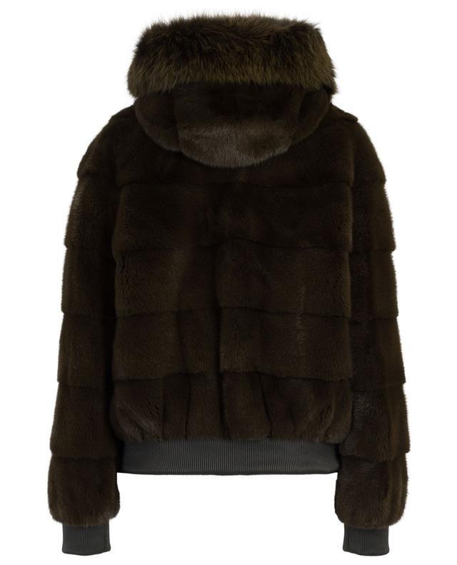 Hooded mink jacket YVES SALOMON