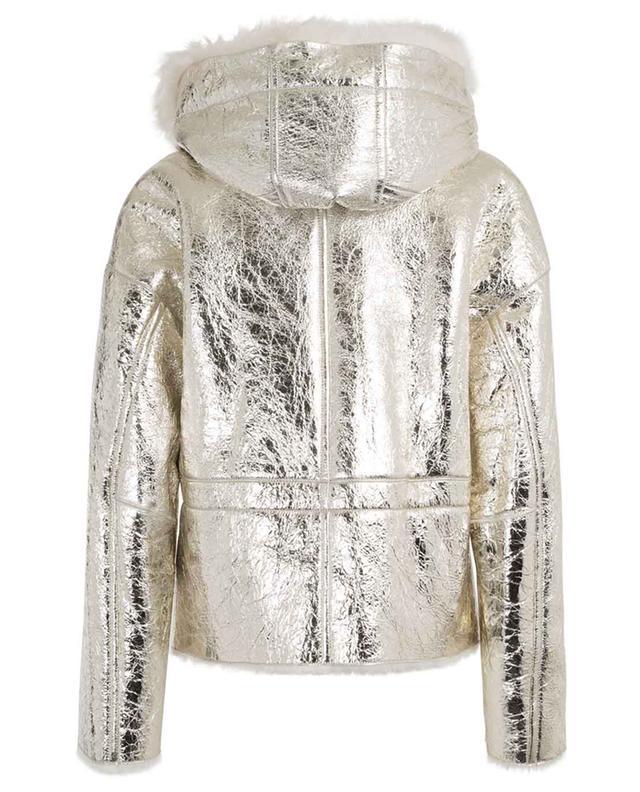 Veste en peau lainée mérinos métallique Light Gold YVES SALOMON