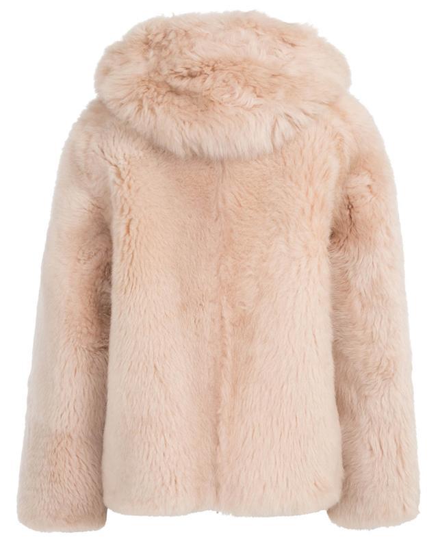 Veste à capuche en peau lainée mérinos Douceur YVES SALOMON