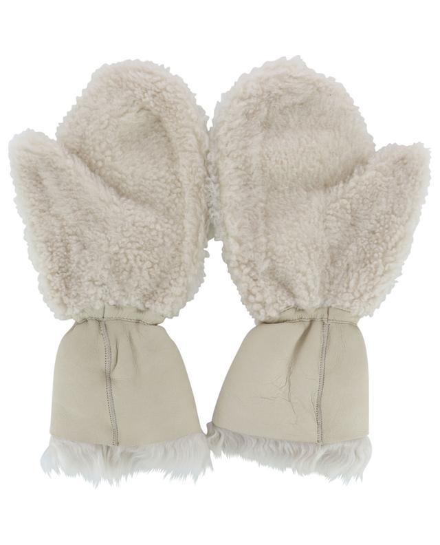 Moufles en peau lainée mérinos YVES SALOMON