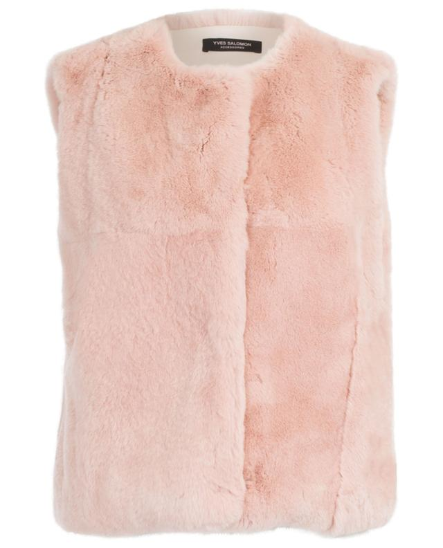 Rabbit fur vest YVES SALOMON