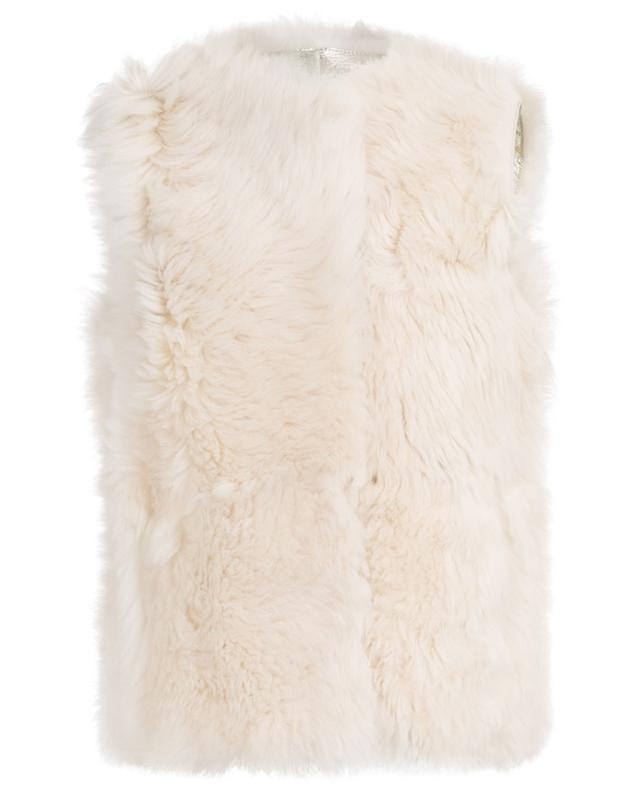 Light Gold metallic shearling vest YVES SALOMON