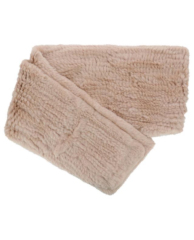 Écharpe à capuche en fourrure de lapin avec poches YVES SALOMON