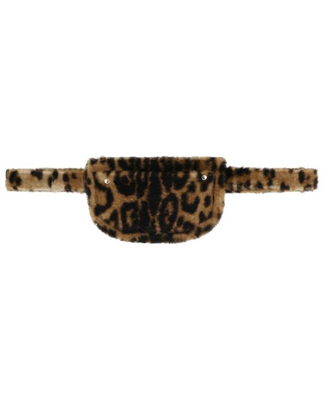 Kleine Gürteltasche aus Lammfell mit Leopardenprint YVES SALOMON