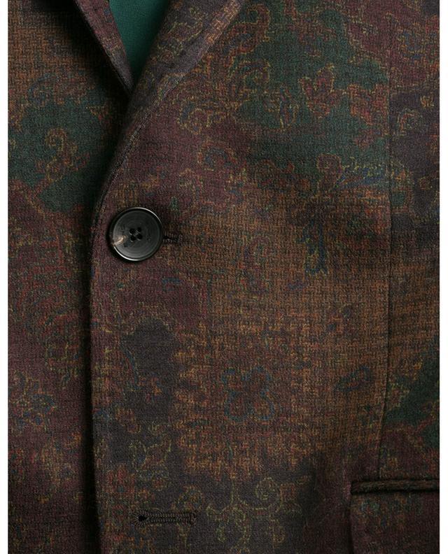 Slim-Fit-Blazer aus geblümtem Jersey ETRO