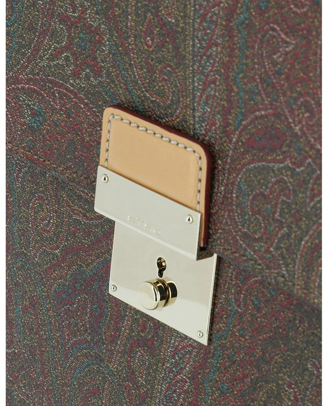Paisley Icons printed leather document holder ETRO
