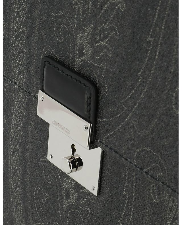 Paisley Icons printed leather document holder ETRO