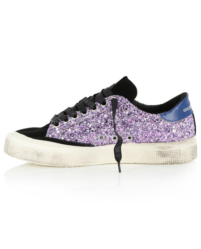 May glitter adorned leather sneakers GOLDEN GOOSE