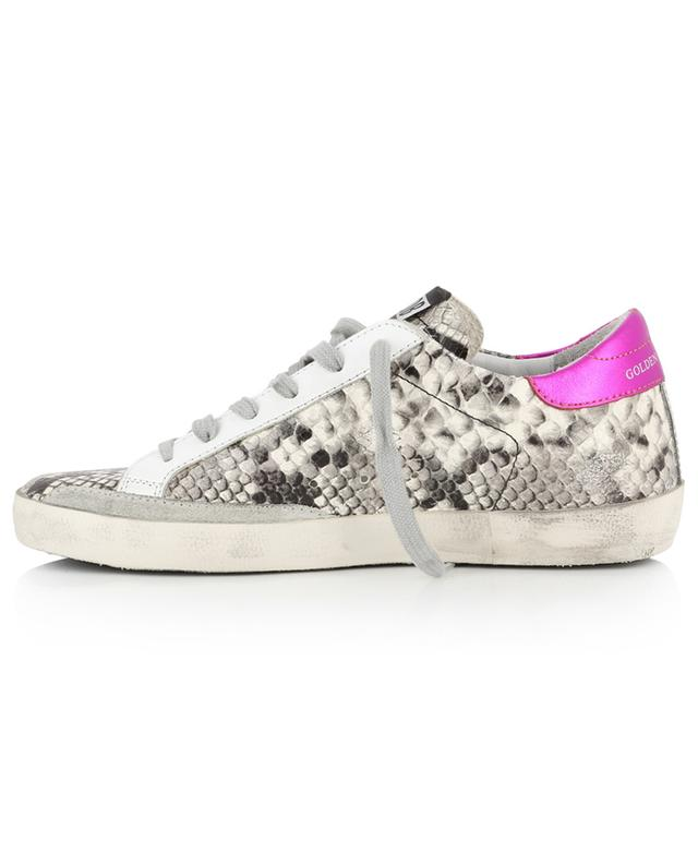 Superstar python embossed leather sneakers GOLDEN GOOSE