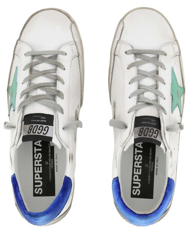 Superstar velvet detail leather sneakers GOLDEN GOOSE