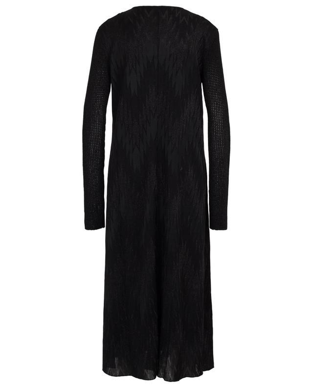 Robe longue scintillante motif chevrons M MISSONI